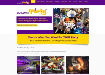 Build Your Party Website Launched